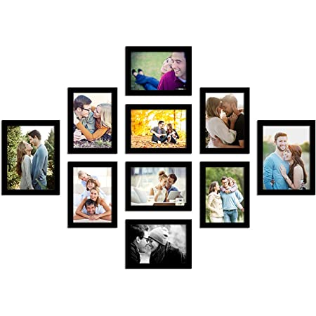 Art Street Photo Frame For Wall Set of 10 Black Picture Frames For Home Decoration , Wall Decor EcoSeries -Size -6x8,5x7 Inches