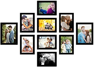 Art Street Photo Frame For Wall Set of 10 Black Picture Frames For Home Decoration , Wall Decor EcoSeries -Size -6x8,5x7 I...