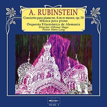 Rubinstein: Concierto para piano No. 4 in D Minor, Op. 70 - Música para piano