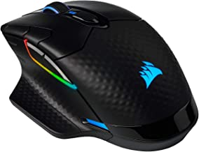 Corsair Dark Core RGB Pro, Wireless FPS/MOBA Gaming Mouse with SLIPSTREAM Technology, Black, Backlit RGB LED, 18000 DPI, O...