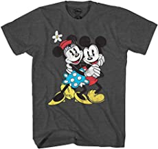 Disney Mickey & Minnie Mouse Old School Love Vintage Classic Retro Adult Men's Graphic Tee T-Shirt