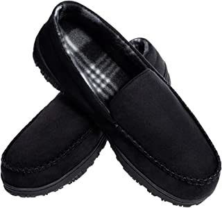 MIXIN Mens Cozy Memory Foam Moccasins Slippers