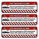 Finest-Folia 9 pegatinas para GPS para bicicleta, moto, coche, alarma, antirrobo, seguro (blanco, R054 para coche)