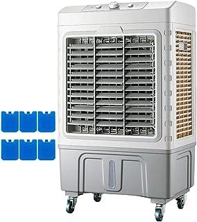 Gjfhome Climatizador Evaporativo con Ruedas y Asas, 120° oscilante, 3 Modos y 3 velocidades,Humidificador de Aire,6 Cajas Hielo,para Lugares Grandes y medianos,6000m³/h