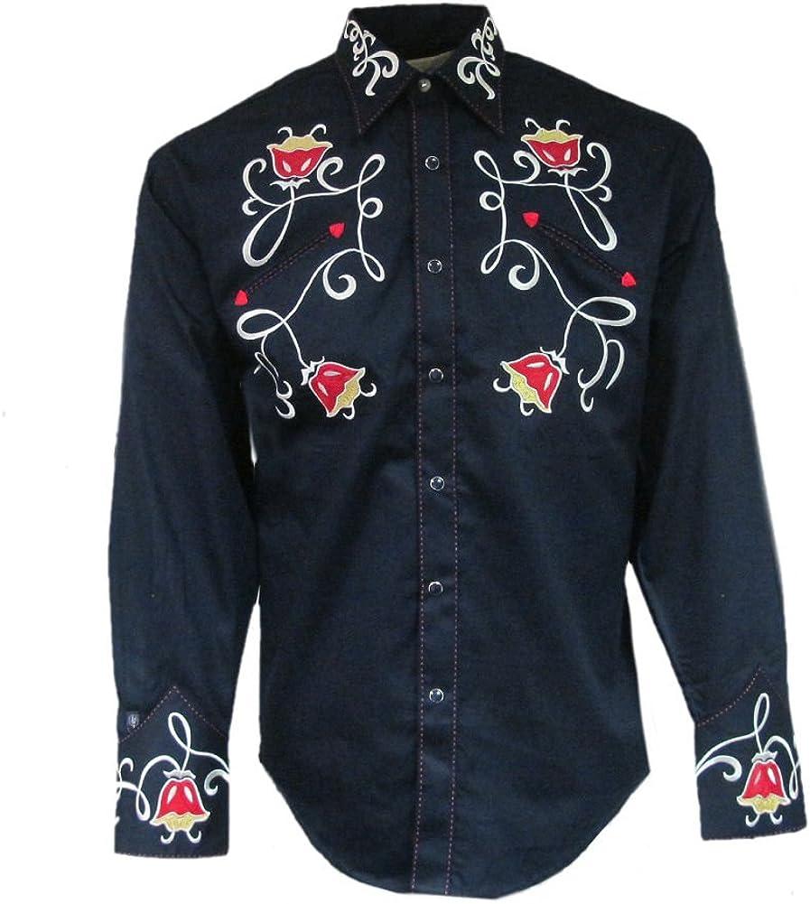 Rockmount It Dedication is very popular Mens Navy Tulip Cowboy S Shirt