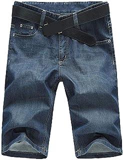 ba49269fb8 SITENG Men Summer Casual Black Blue Jean Shorts Big and Tall Plus Size 44  46 48