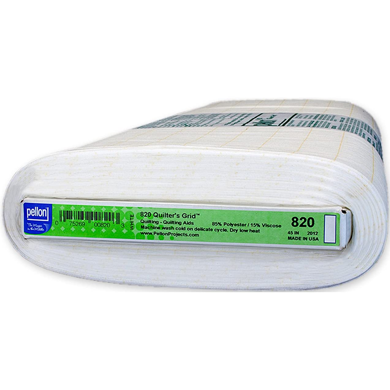 Pellon Qlters1Grid100% Polyester44 Qlters1Grid100PercentPolyester44, 1 Pack, White