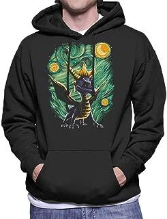 Starry Spyro The Dragon Van Gogh Men's Hooded Sweatshirt
