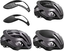ROCKBROS(ロックブロス)ヘルメット 自転車 スポーツ用 ロードバイク サイクリング 大人 超軽量 高剛性 通気 サイズ調整可能 通風孔付き 通勤 通学(頭囲:57-62㎝)(シルバー)