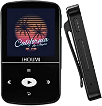 32GB MP3 Player, IHOUMI MP3 Player with Bluetooth, Portable Music Player with Clip, Sport Pedometer, FM Radio, Vioce Recor...