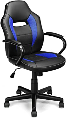 Swivel Home Office Desk Task Computer Chair Mid-Back Racing Gaming Style with Ebook