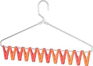 ストリックスデザイン 洗濯物干し ちょこっと 小物干し ハンガー 洗濯バサミ12個付 レッド オレンジ 43×25cm 一気に外せる 省スペース 洗濯 物干し QB185