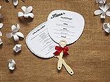 Wedding star - Mangos de madera para abanicos (25 unidades)