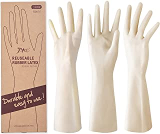 Sponsored Ad - JOYECO Rubber Gloves Reusable Household Cleaning Gloves for Kitchen Dishwashing 3 Pairs, Medium