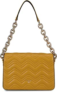 Da Milano Women's Quilted Leather Sling Bag