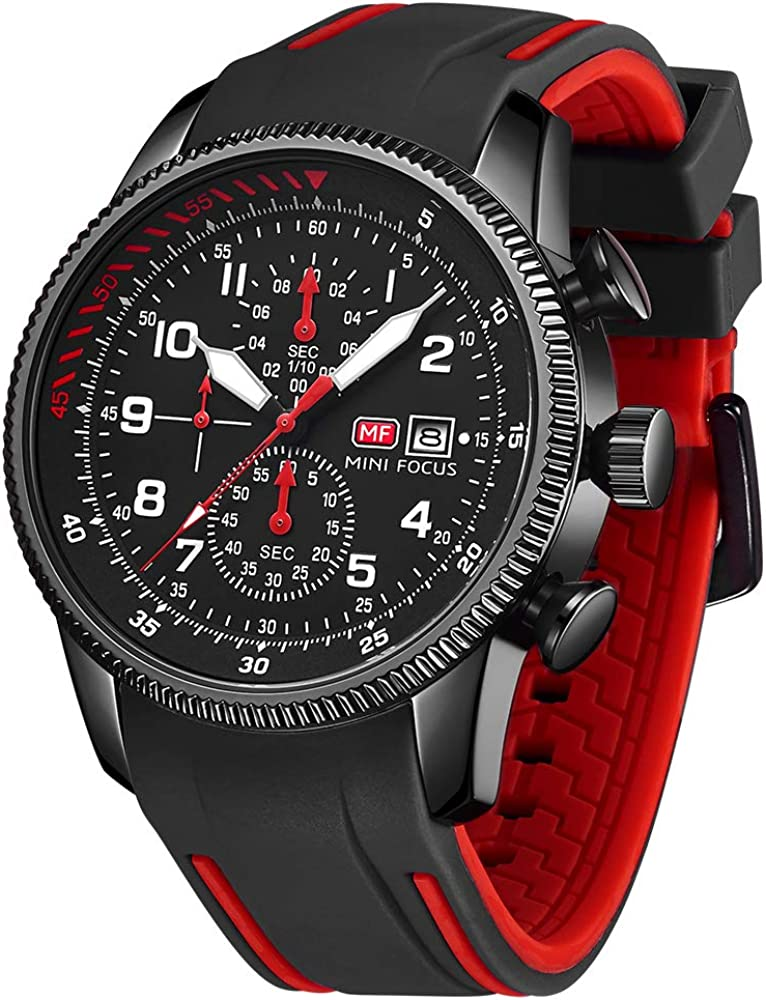 MINI FOCUS Men's Watches New product type Fashion Waterproof Silicone Strap Quart Max 87% OFF