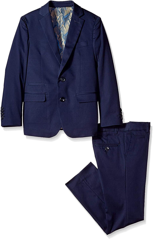 Isaac 4 years warranty Mizrahi Finally popular brand Boy's 2-20 Slim Fit Stretch 2-Piece Suit - Cotton