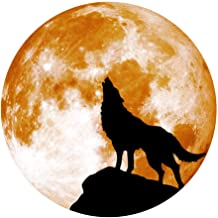 Sharon Church Creative Luminous Moon Wall Stickers Halloween Decoration Stickers Luminous Wolf Throw Cushion Gifts Posters Cartoons Pillow Christmas Sofas Couches