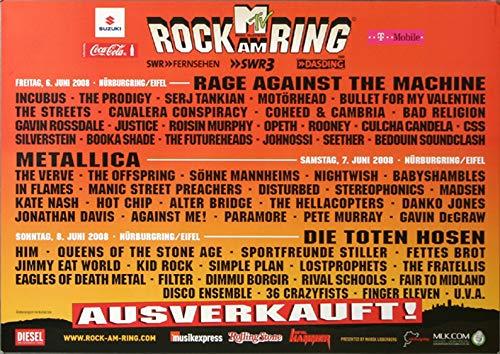 Rock AM Ring & Park - Gesamtplakat, Rock am Ring 2008 » Konzertplakat/Premium Poster   Live Konzert Veranstaltung   DIN A1 «