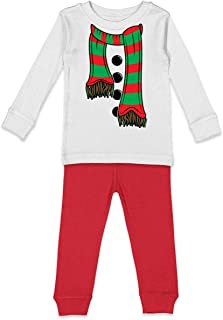 Snowman Scarf - Frosty Costume Xmas Kids Pajama Set