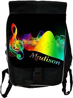 Customize Yours Now! Navy and Aqua Stripe Lea Elliot TM Custom Laptop Messenger Bag
