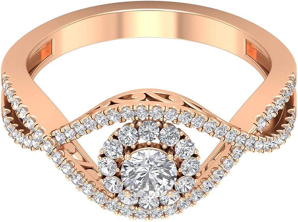 Cheap SALE Start depot 3 4 CT Diamond Halo Statement Women Ring Interlockin Engagement