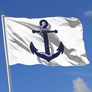 flag with anchor and stars