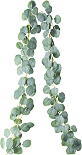 PARTY JOY Artificial Vines Faux Silk Eucalyptus Garland Greenery Wedding Backdrop Arch Wall Decor