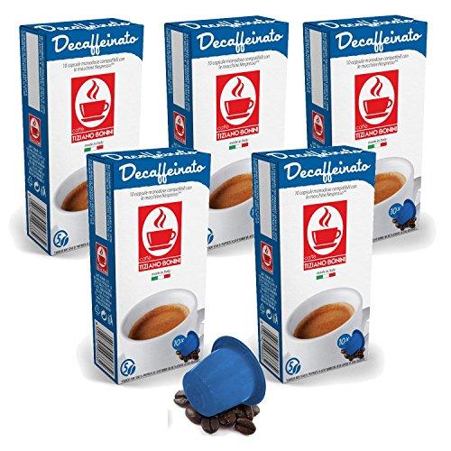 50 Kaffee Kapseln Nespresso kompatibel - Decaffeinato (5 x 10 Kapseln) von Bonini
