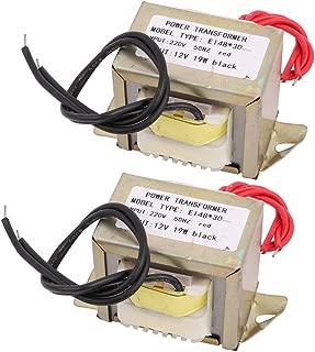 Aexit 2pcs 220V Distribution electrical Input to 12V 19W EI-4830 Ferrite Core Power Transformer Converter