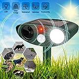 HOPSEM Cat Scarer Cat Repellent Ultrasonic Solar Powered Animal Deterrents for Gardens Flashing Light Motion...