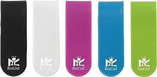 RoiCiel 万能クリップ ケーブルクリップ イヤホンクリップ マネークリップ マグネット 多機能 スマホスタンド シリコン 全色セット