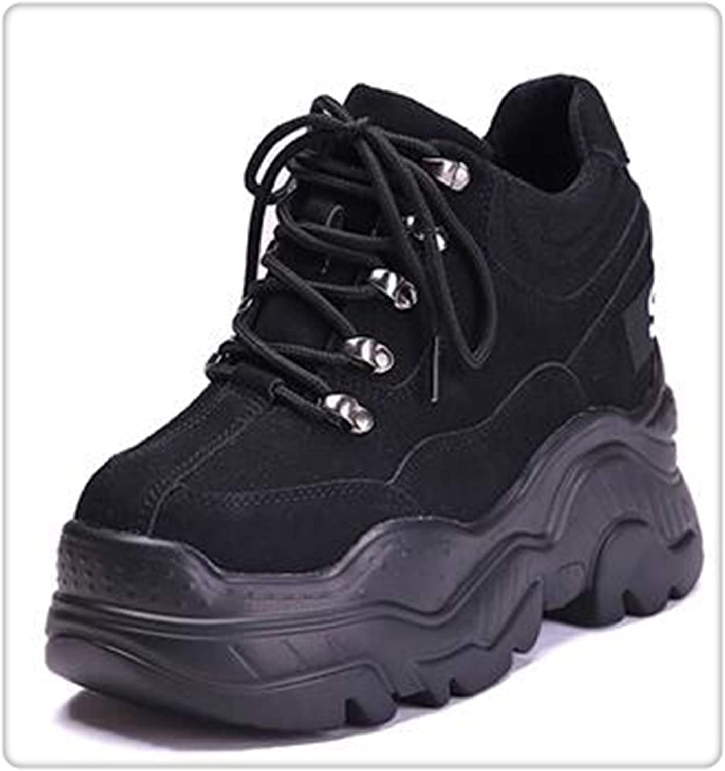Women High Platform Height Increasing shoes 12 cm Thick Trainers Sneakers Woman