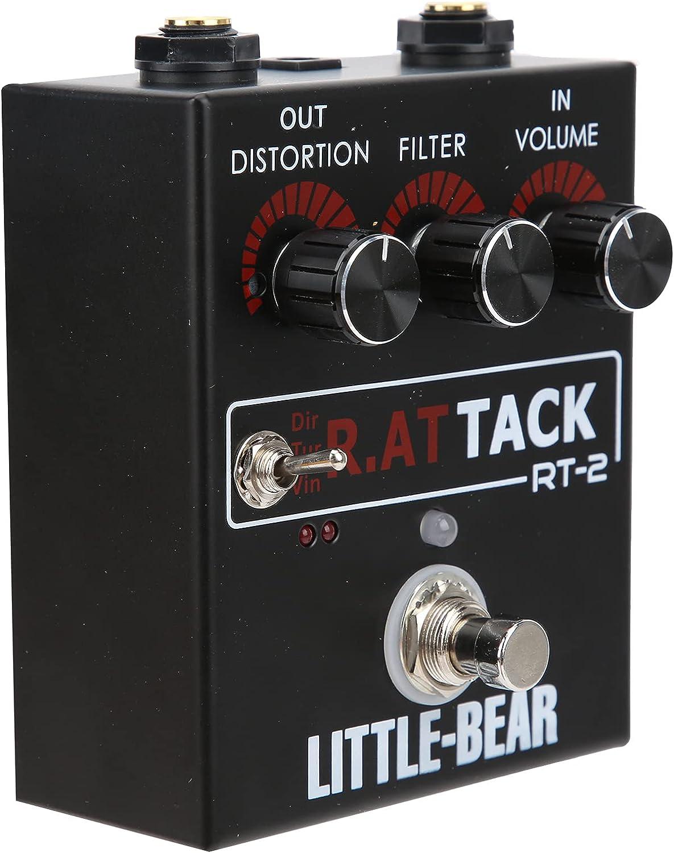 Pedal de guitarra de distorsión Efecto de distorsión de guitarra eléctrica de 3 niveles para accesorios de efecto único de tono RAT LM308N