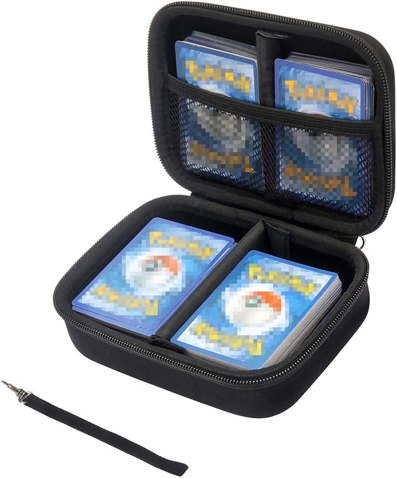 TPCY Cards Carrying Case Compatible with PM TCG Cards with Hand Strap Card Holder Fits up to 500 Cards Smiley
