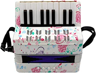 SFQNPA Heart-Shaped Children's Amateur Beginner Mini 17-Key 8 Bass Accordion Educational Instrument Toy Kids Piano Percussion Accordion Musical Toy