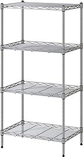 VOONEEN Półki na 4 poziomy, wielofunkcyjny metalowy nowocz