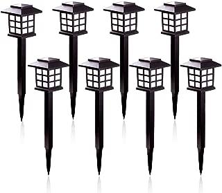 Luces LED Solares Jardín, IP65 Lámpara de Camino de Paisaje Impermeables Para Patio, Césped, Pasillo, Instalación Fácil Sin Cables (8 Unidades) [Clase de Eficiencia Energética A]