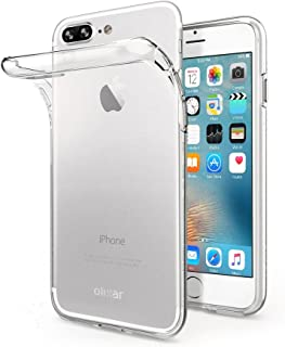 Olixar for iPhone 8 Plus Clear Case - Slim Gel TPU - Ultra Thin - Protective Cover - Flexible - Transparent - Wireless Charging Compatible - Crystal Clear