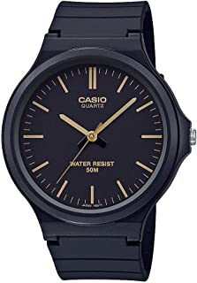 Casio Classic Quartz Watch with Resin Strap, Black, 21.45 (Model: MW-