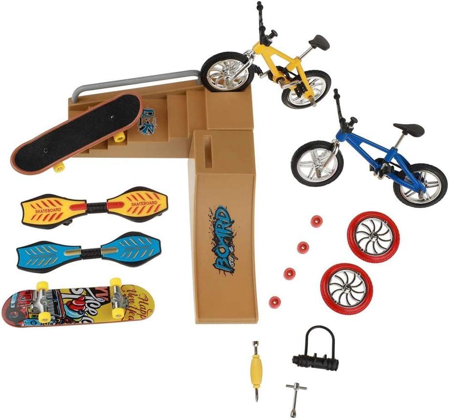 Apofly 1PC Finger Skateboards Toys Set Indefinitely Scoot Mini Park Kit Skate Cheap mail order shopping