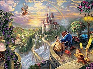 Thomas Kinkade The Disney Dreams Collection: Beauty and The Beast Falling in Love Puzzle, 750 Pieces, 24
