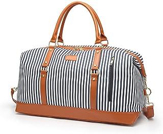 Borsone da donna, borsa da viaggio in tela di grande capacità, borsa da viaggio oversize, borsa da viaggio per weekend e n...