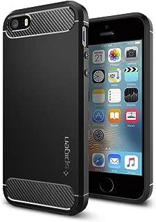 【Spigen】 スマホケース iPhone SE ケース / iPhone5s ケース / iPhone5 ケース 対応 TPU 米軍MIL規格取得 耐衝撃 ラギッド・アーマー 041CS20167 (ブラック)