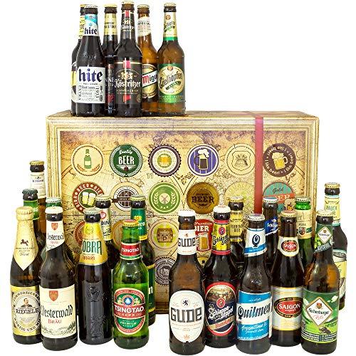 24x Biere aus der Welt + Deutschland / Geschenkset Geburtstag / Geschenk Mann