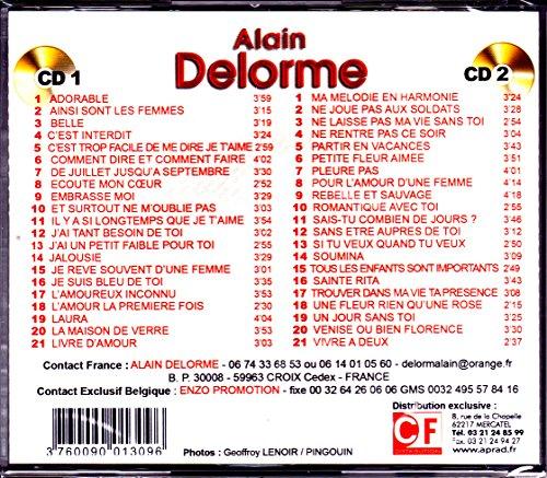 CD Double Alain Delorme & Crazy Horse Ultra Top 42 Titres