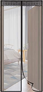 """Aebitsry Magnetic Screen Door, Fits Door up to 39""""W x 83""""H, Magnet Mesh Curtain & Fly Mosquito Screen Self Closure, Full Frame Velcro Tight & Seal Polyester Net, Keeping Bugs Out"""