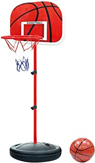 Tonyko Adjustable Kids Basketball Stand Basketball Hoop Basketball Portable Boards Toy Set 60-150CM with 1pcs Basketballs