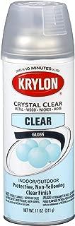 Krylon (K05130107-6 PK) Acrylic Crystal Clear Interior/Exterior Top Coat - 11 oz. Aerosol, (Case of 6)