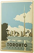 Tin Sign World Tour Toronto Canada skyline river CN Tower World's Highest Tower Metal Plate 8X12